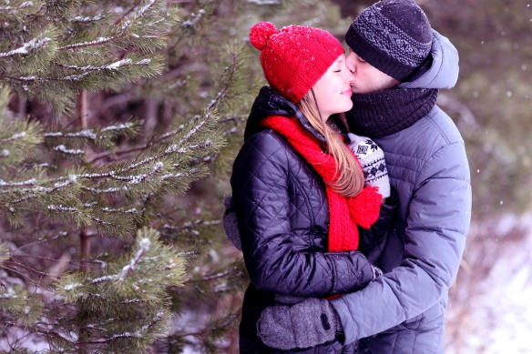 young love winter nature